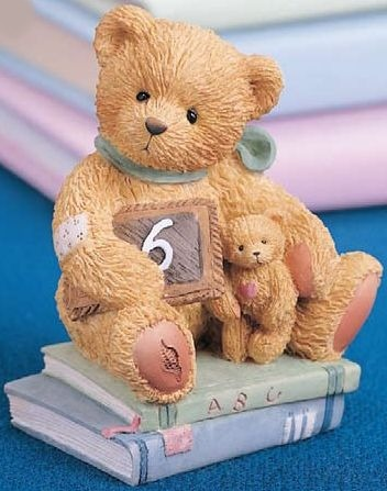 Cherished Teddies 911283 Chalking Up 6 Wishes 6th Birthday