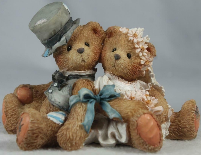 Cherished Teddies 911402 Robbie and Rachael Love Bears All Things Wedding- No Box