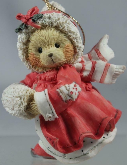 Cherished Teddies 912832 Girl With Muff Dated 1993 Ornament