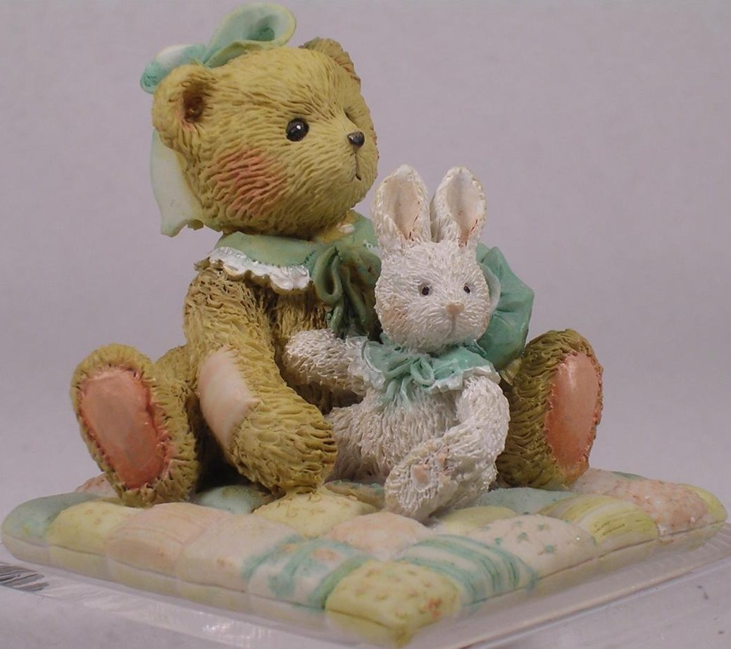 Cherished Teddies 950424 Camille Id Be Lost Without You Bear With Bunny