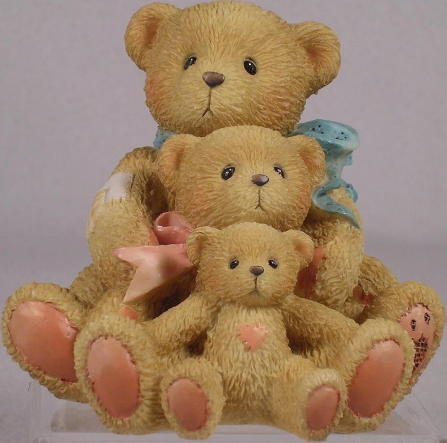 Cherished Teddies 950505 Theadore Samantha and Tyler Friends Come In All Sizes - no box