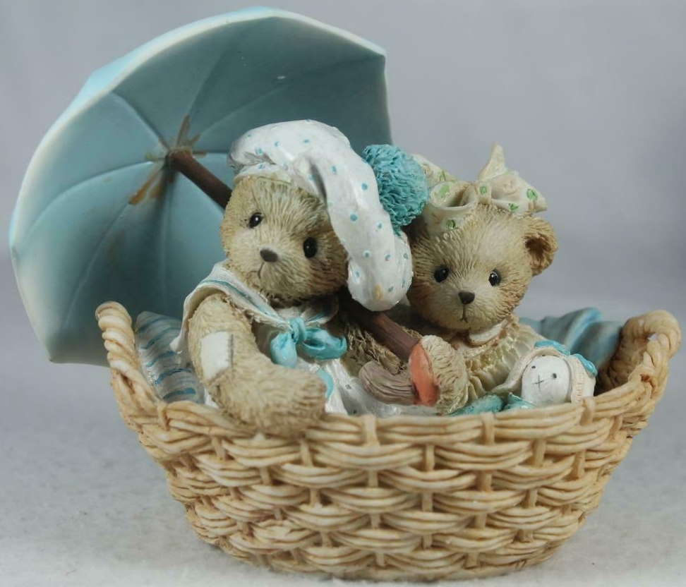 Cherished Teddies 950564 Beth and Blossom Friends Are Never Far Apart