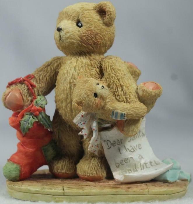Cherished Teddies 950734 Jacob Wishing For Love With Stocking
