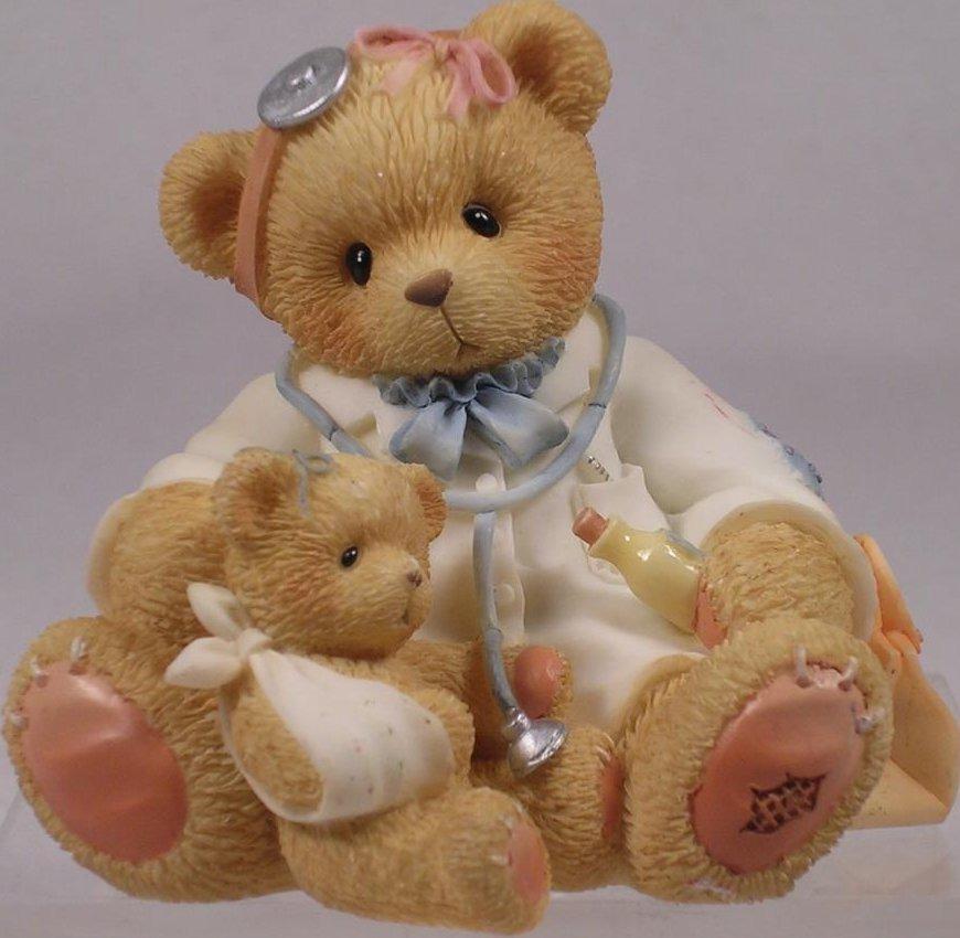 Cherished Teddies CT004 Dr Darlene Makebetter 1998 Symbol of MemBEARship