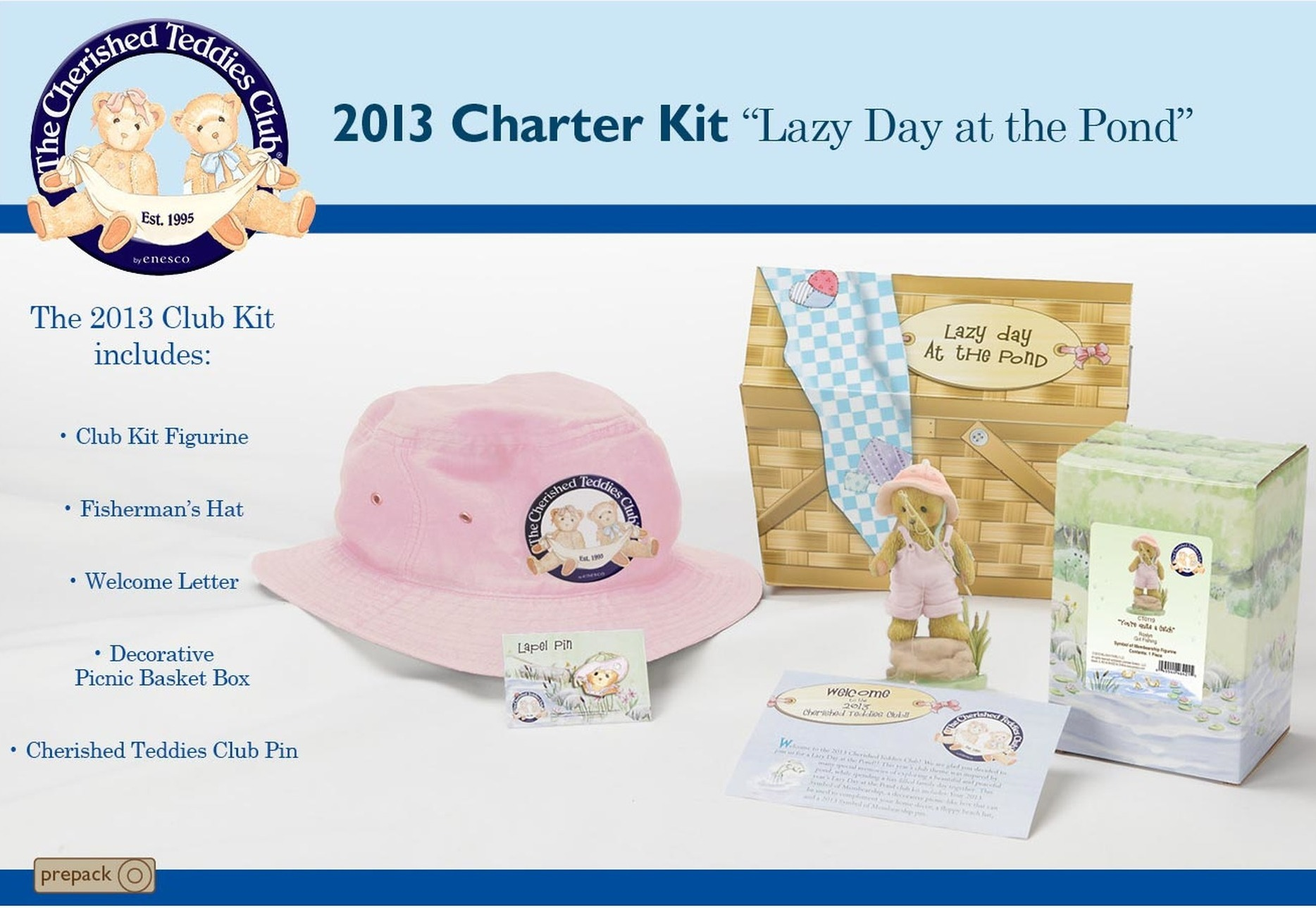 Cherished Teddies CT9513 Club Kit Set of 3 CHARTER 2013 CL