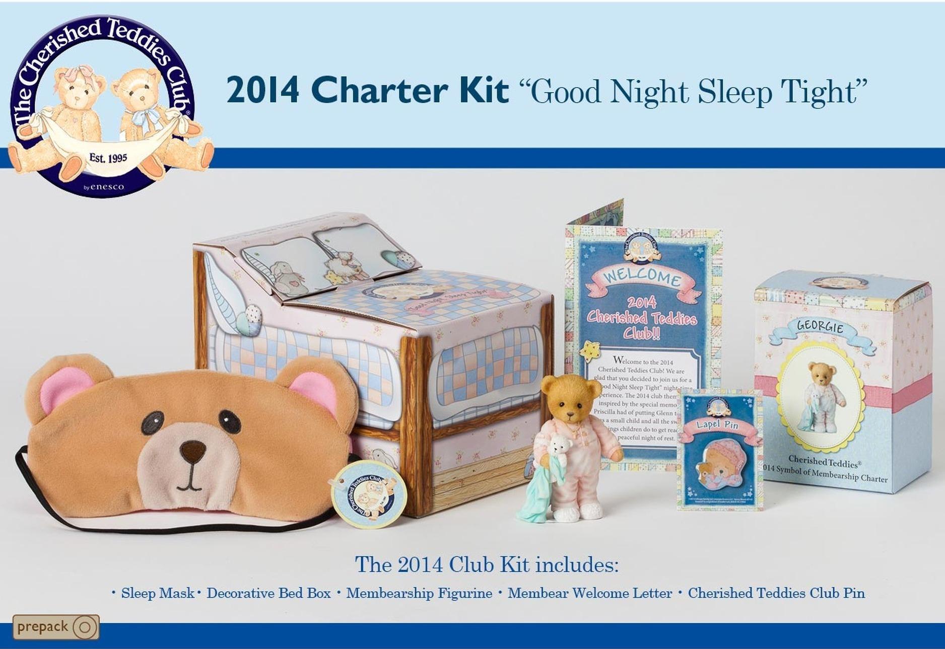 Cherished Teddies CT9514 Club Kit Set of 4 Charter 2014 Cl