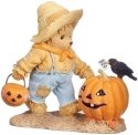 Cherished Teddies 132853 Halloween w Pumpkin Figurine