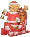 Cherished Teddies 133471 Santa Sleigh Figure Morgan