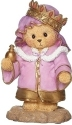 Cherished Teddies 133485N Bear King Crown Red Gems