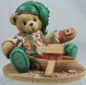 Cherished Teddies 141143 Yule Building A Sturdy Friendship Elf W Boat