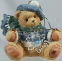 Cherished Teddies 272175 Holding Snowflakes Ornament 1997 Dated