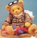 Cherished Teddies 337463 Lance 1998 Event Boy w Plane