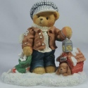 Cherished Teddies 352721 Rich Always Paws For Holiday Treats W Dog House