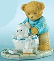 Cherished Teddies 4009180 Scrub A Dub Pups In The Tub