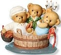 Cherished Teddies 4012278 Rub A Dub Three Teddies In The Tub