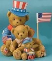 Cherished Teddies 4012860 Our Colors Run True Red White and Blue
