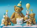 Cherished Teddies 4015562 A Special Birthday Celebration Figurine