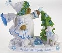 Cherished Teddies 4016861 Hanging Blue Stars on Tree