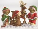 Cherished Teddies 4016864 With 2 Reindeer on Snow
