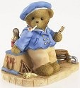 Cherished Teddies 4019311 Sea Captain Bear with Chest Figurine
