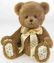 Cherished Teddies 4019571 Jointed Bear With Quilted Paws