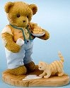 Cherished Teddies 4020594 Bear with Milk & Cookies Figurine
