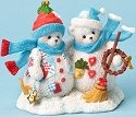 Cherished Teddies 4023741 Snowbear Couple Figurine