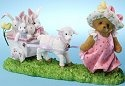 Cherished Teddies 4025789 Girl Pulling Cart Figurine