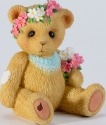 Cherished Teddies 4027225 Mini Bear Flower Figurine