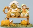 Cherished Teddies 4036331 Bear Sitting Bench E Figurine