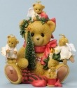 Cherished Teddies 4036893 Sitting Holiday Deco Figurine
