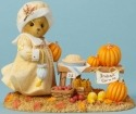 Cherished Teddies 4040455 Bear Figurine Pumpkins Corn