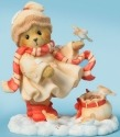 Cherished Teddies 4040457 Bear Feeding Birds Figurine
