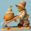 Cherished Teddies 4047373 Pilgrim Cart Pumpkin Figurine