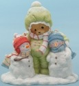 Cherished Teddies 4047377 Bear Hugging Snowmen Figurine