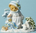 Cherished Teddies 4047381 White Christmas W Anim Figurine