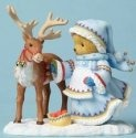 Cherished Teddies 4053454 Girl W reindeer Lapl Figurine