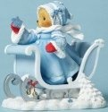 Cherished Teddies 4053456 Bear Sled Hldng Star Figurine