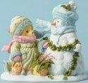 Cherished Teddies 4053477 With Snowman Bag Car Figurine
