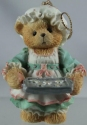 Cherished Teddies 625426 Girl Holding Tray Of Cookies Ornament