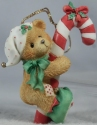 Cherished Teddies 651389 Elf With Candy Cane Ornament