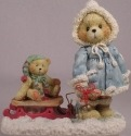 Cherished Teddies 912840 Mary Pulling Sled Figurine