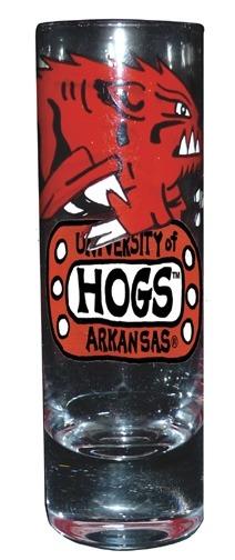 Collegiate Gifts 80103 Set of 2 Arkansas Razorbacks Shot Glasses