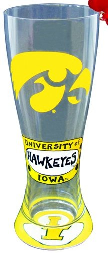 Collegiate Gifts 80366 Set of 6 Iowa Hawkeyes Christmas Pilsner Glass Ornaments