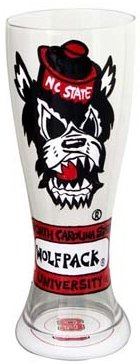 Collegiate Gifts 80531 Set of 6 NC State Wolfpack Pilsner Glasses