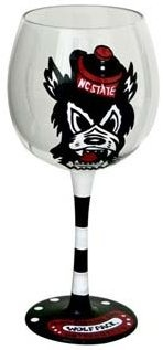Collegiate Gifts 80532 Set of 6 NC State Wolfpack Wine Glasses