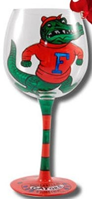 Collegiate Gifts 80655 Set of 6 Florida Gators Christmas Wine Glass Ornaments