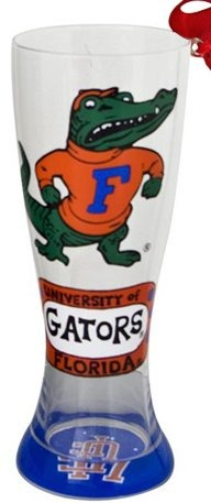 Collegiate Gifts 80656 Set of 6 Florida Gators Christmas Pilsner Glass Ornaments