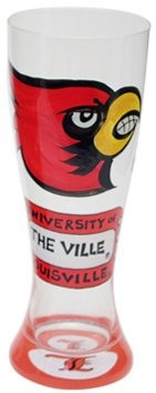 Collegiate Gifts 80921 Set of 6 Louisville Cardinals Pilsner Glasses