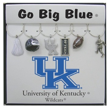Collegiate Gifts 81111 Set of 2 Kentucky Wildcats Painted Glassware Charms